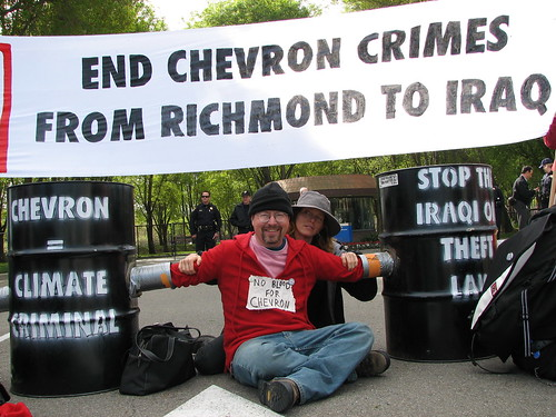 Protest at Chevron HQ  East Bay