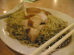 Brisket noodles with roast chicken