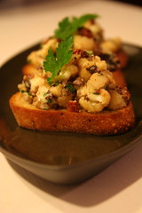 Warm Cauliflower Bruschetta
