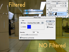 Photofilter layer effect