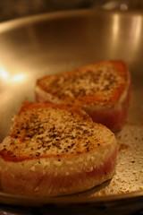 Searing Tuna - 2 minutes per side