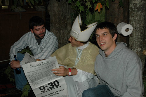 pope shit in the woods
