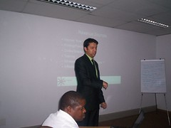 Ramon Thomas teaching Internet Cafe workshops in Johannesburg