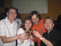 Mike, Martina, Mario und Peter im Zap am 30. März 2007 Regensburg