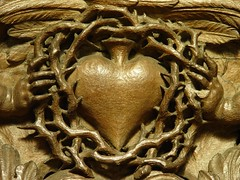 Sacred heart in crown of thorns
