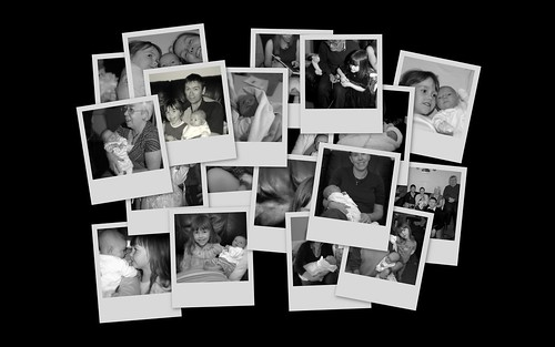 Family Collage B&W