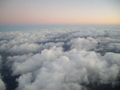 Foto del cielo desde un avion