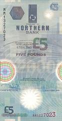 £5 NI front Northern Bank
