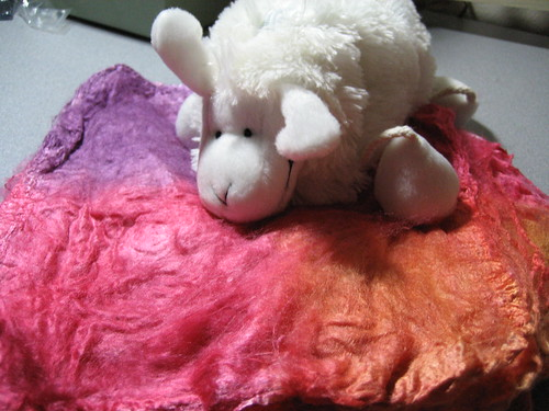 Sheepie and silk