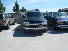 Outrageously shitty parking job, SUV at USC, C...