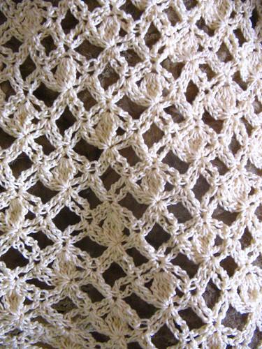 Close-up of stitch pattern