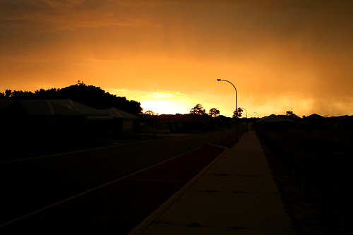smoky stormy sunset