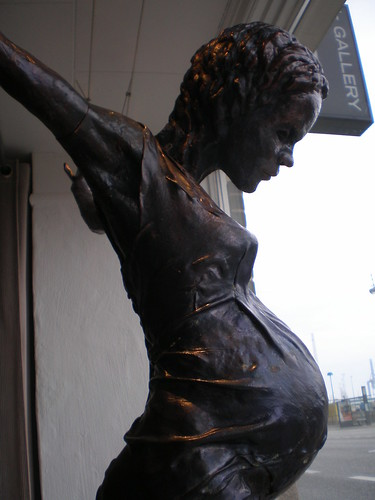 'Pregnant Teenager', Dressed Version of 'In the Name of God', Jens Galschiøt 2006 by hanneorla.