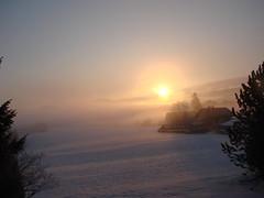 lever de soleil à Gellin