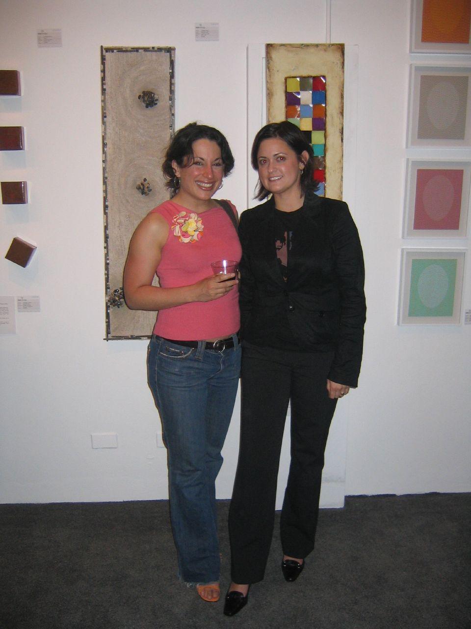 Artist Carla E. Reyes + Leche-Vitrines Gallery Director Danielle Lanteigne