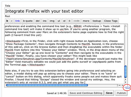 It's All Text! Firefox extension: edit button