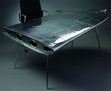 Airplane Wing Coffee Table Aviator Airplane Pilot Industrial