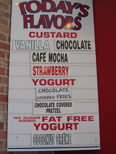 East Coast Frozen Custard menu