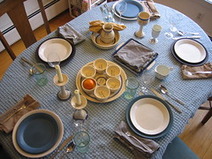 Seder Table 2, by rbarenblat