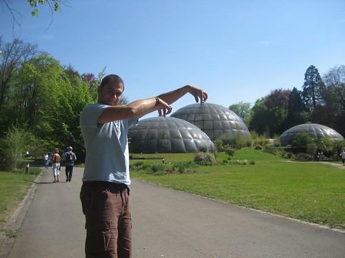domes in botanical garden