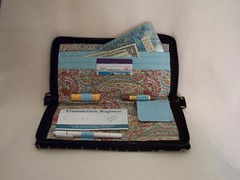 fashion checkbook clutch-inside filled
