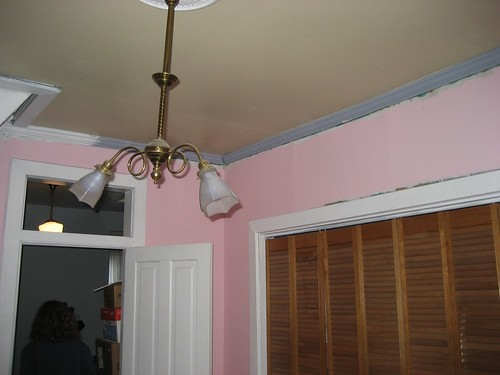 Our half-painted room.