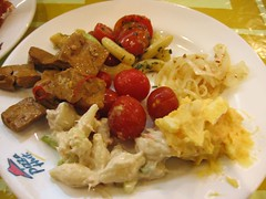 tofu and salad