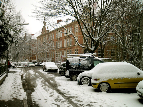 Snow at home.