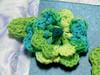 crochet flower pin created by patti haskins