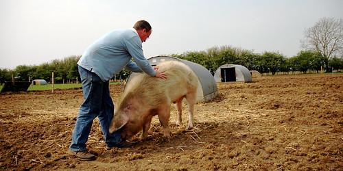 Mark giving Boris a back run