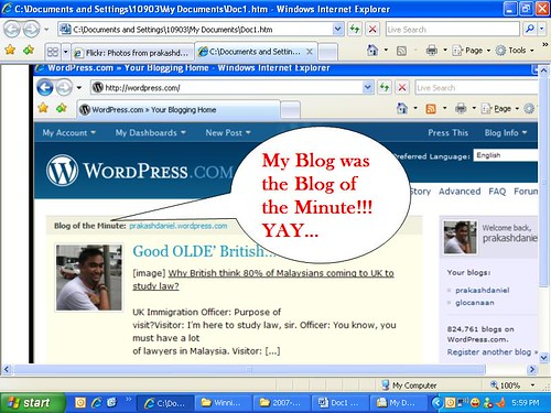 Blog of the Minute