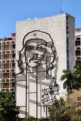 Steel sculpture of Che Guevara
