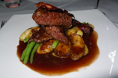 Queensland Emu fillet – re-fried kipfler potato's, crisp pancetta and green beans – Riberry jus