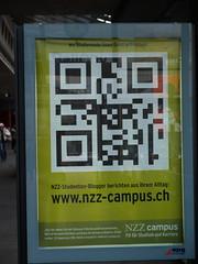 QR code ad in Luzern/Switzerland