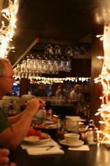 a blurry shot inside J's Oyster Bar
