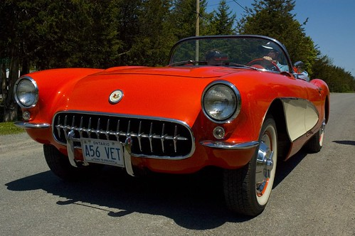 1956 Corvette three-quarter angle