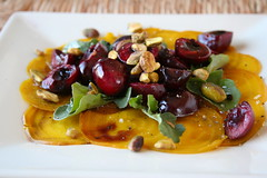 Beet carpaccio with cherries 3