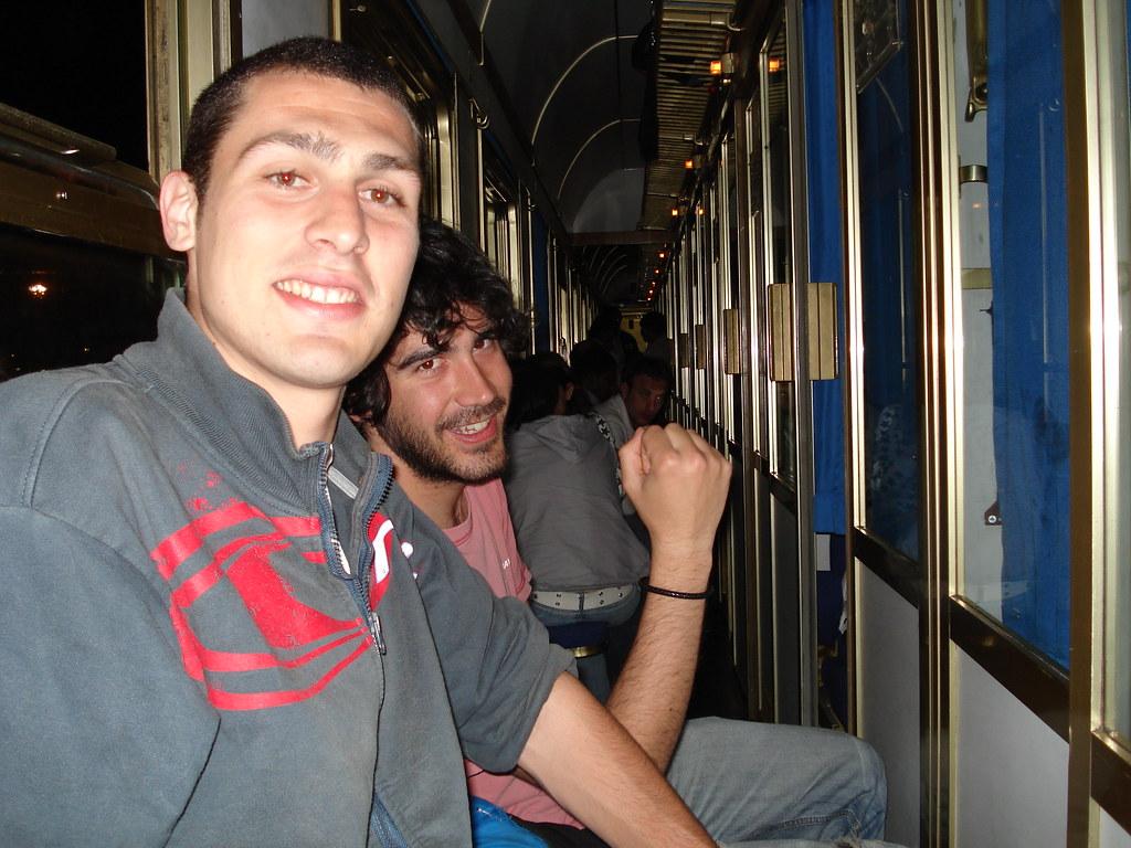 Jorge y Paco en el tren nocturno hacia Nàpoles
