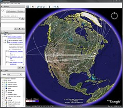 AIM Chat Connections on Google Earth