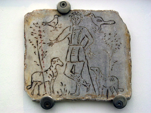Early Christian Gravestone, Jesus the Shepherd