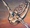Freedom - 36x36 oils on canvas by Jennie Rosenbaum