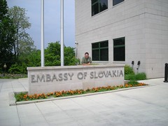Sign for Embassy of Slovakia