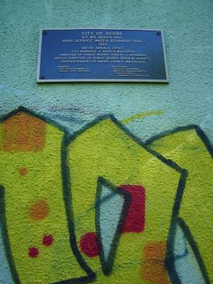 Water tower graffiti