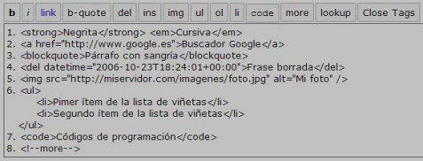 Editor no visual de WordPress