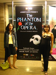 ayu + i, in front of the poster