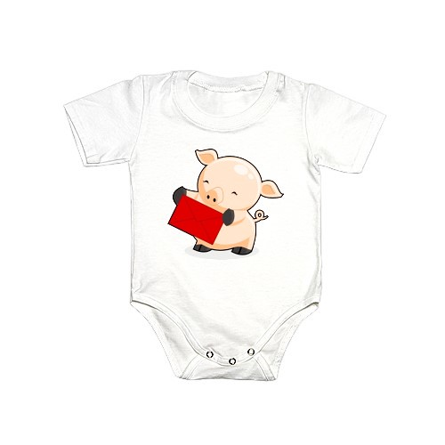 Renkoo Piggy Onesie with Red Envelope