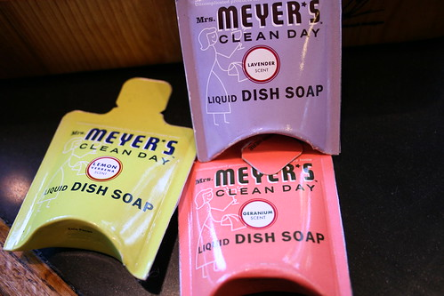 Mrs. Meyer's dish soap samples