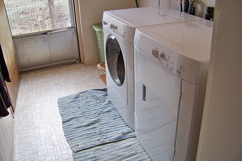 Our new washer and dryer in our laundry room!