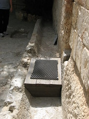 A Jerusalem tomb showing how the stone would have been placed