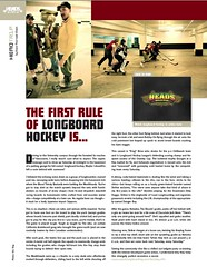 Longbord Hockey Article in Heads Magazine